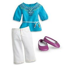 American Girl Saige TUNIC OUTFIT retired top pants shoes F4691