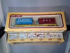 """LIFELIKE VINTAGE COLLECTABLE FLAT CAR W/CONTAINER LOAD """"TRAILER TRAIN"""" HO SCALE"""