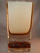 AWESOME Mid-Century Modern Cased Glass Berenak Hand Made Czech Republic Vase!