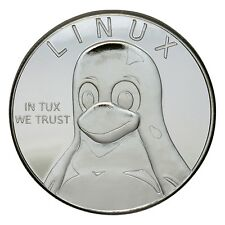 GNU/Linux Silver-plated Bronze Challenge Coin