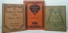 1903~MUSIC READERS~Childrens School Books~Antique BROWN ORANGE Set~Old Decor Lot
