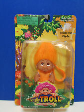 "2001 TOTALLY TROLL CLIP ON - 3"" Dam Norfin Troll Doll - NEW IN PACKAGE - Orange"