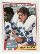 TERRY BEESON SEATTLE SEAHAWKS 1981 TOPPS  KANSAS UNIVERSITY AUTOGRAPHED CARD