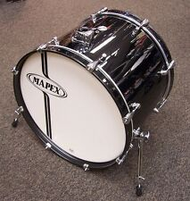 """Mapex drums Voyager 22"""" bass drum Poplar shell Black New"""
