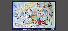 Cleveland Indians WE BELIEVE Historic Team History Collage Rare Original POSTER