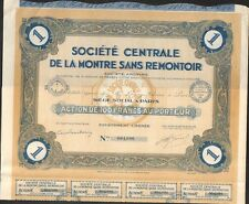 LA MONTRE SANS REMONTOIR (J)