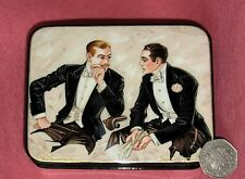 Russian hand painted LACQUER Box GAY PRIDE INTEREST GENTLEMEN J.C. Leyendecker