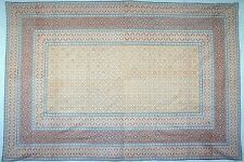 Handmade Cotton Moroccan Foulard Tapestry Tablecloth Coverlet Bedspread 88x106