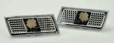 Chrysler 300 300C 2005-2010 Front Bumper Side Marker Lights - Chrome Clear