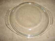 PYREX 683-C LID WITH 2 ROUND TAB HANDLES CLEAR PYREX GLASS FREE USA SHIPPING