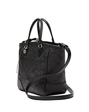 NEW GUCCI Bree Guccissima Small Tote Shoulder Bag Crossbody Purse Leather Black