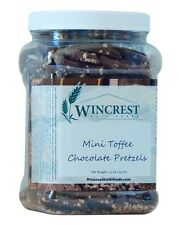 Chocolate Covered Mini Toffee Pretzels - 1.5 Lb Tub - Free Expedited Shipping!