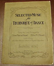 DANCE TECHNIQUE ANTIQUE MUSIC BOOK 1918 COLUMBIA NORMAL SCHOOL OF PE CHICAGO