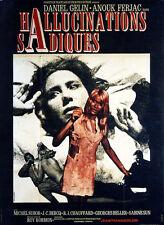Affiche 120x160cm HALLUCINATIONS SADIQUES (1968)  George Beller, Anouk Ferjac TB
