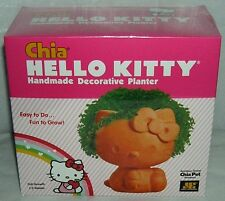 HELLO KITTY CHIA PET DECORATIVE PLANTER CHRISTMAS GIFT FREE USA SHIPPING NIB