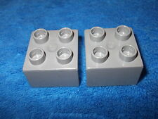 LEGO DUPLO ritterburg 2 x 4er d'pierre 4777 + 4988 + 4785 pièce de rechange Gris