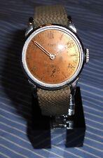 Alte Herren EMES kl. Sekunde Vintage Watch 40er Handaufzug WW II 2 WK Uhr