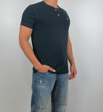 New 2014 Hollister By Abercrombie  Men Arrow Point  River Jetties Henley Tee NWT