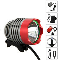 5000Lm XM-L T6 LED Head Front Bicycle Bike Headlamp Torch Light Lamp Rear light