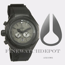 Authentic Nixon Men's Stainless Steel Steelcat All Black Watch A313001