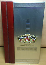 VHTF COLLECTIBLE CHIVAS REGAL 12 YEARS OLD WOODEN EMPTY CASE ''NO ALCOHOL''