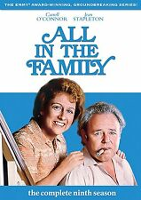 ALL IN THE FAMILY - The Complete Ninth Season 9 (DVD, 3-Disc Set)- Brand New!!