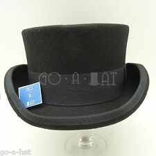 Wool Felt Tuxedo Topper Top Hat Men Short | 55cm | Black | CLASSIC x FORMAL