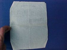 ORIGINAL WWII CAPTURE PAPER FOR GERMAN LUGER - 330TH INFANTRY