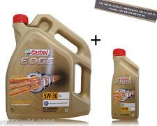 1x5+1x1 Liter CASTROL EDGE TITANIUM FST 5W-30 LL MOTORÖL VW 50400 MB-229.31/51