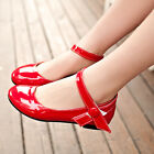 New Womens Girls Ankle Strap Shoes Mary Jane Low Ballet Flat Oxfords Pumps Shoes