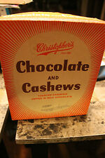 Vintage Christopher's Chocolate & Cashews 24 Bars Box Advertising Candy Empty