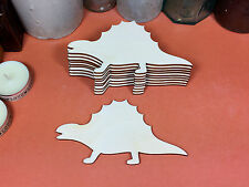 WOODEN DIMETRODON Dinosaur Shapes 12cm (x10) laser cut wood shape crafts blanks