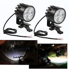 2*Universal Motorcycle 4LED Fog Spot Motorbike Front Headlight Light Lamp 12-85V