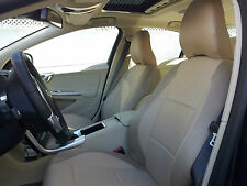 SUV XC60 XC70 XC90 TAN LEATHERETTE / TAN SYNTHETIC SIDES Two Front SEAT COVERS