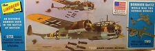 LINDBERG 1:72 SCALE WWII GERMAN DORNIER Do17Z BOMBER PLASTIC MODEL KIT
