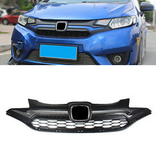 Black Front Grill Grille GK5 style Replace for Honda Fit Jazz 2014-2016