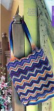 ~ Knitting Pattern For Lovely Chevron Stripe Felted Tote Bag ~