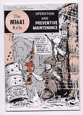 1969 ARMY M16A1 RIFLE Operation Maintenance Manual Vietnam Era Comic Style
