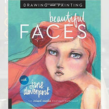 Drawing and Painting Beautiful Faces Art Book By Jane Davenport, NEW Paperback
