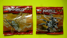 2x Lego Ninjago 30080 30081 Bianco Ninja Zanè Aliante Scheletro Chopper