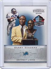 2016 Panini Eternal Barry Sanders Hall of Fame Football Card - Only 184 made!