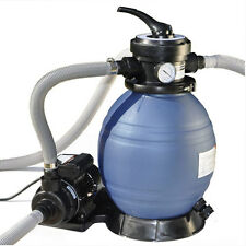 "12""  Above Ground Pool Sand Filter System and Pump For Intex Pools"