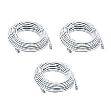 3PK 50FT White Quality Cat6 550MHz UTP RJ45 Ethernet Bare Copper Network Cable