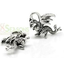 Charm - Dragon 3D - Game of Thrones - 21x14mm - Antique Silver (Qty x 10)