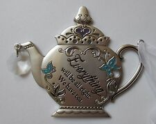 s Everything will be ok we have tea comfort TEAPOT ORNAMENT Ganz Car Charm