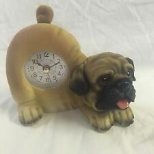 EASTER SALE!!  Critter Clock Pug Tabletop Wagging Tail Puppy Dog