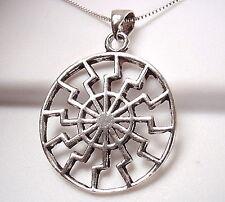 Aztec Calendar Style Pendant Sterling Silver Corona Sun Jewelry
