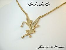 TINKER Bell MAGIC Wish GOLD or SILVER Plated SWAROVSKI Necklace DISNEY Couture