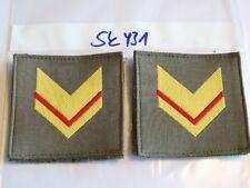 Italia armabzeichen giallo-rosso su verde tessuti 1 PAIA (sk431)