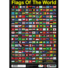 Sumbox Flags Of The World Educational Geography Poster 230 Flags - Most Detailed